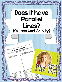Does It Have Parallel Lines? {Cut and Sort!}
