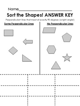 Does It Have Perpendicular Lines? {Cut and Sort!}