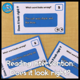 Reading Intervention Task Cards: Does it look right?