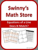 Does It Match: Equation of a Line