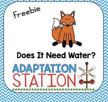 Does It Need Water-A Mini Unit Freebie!