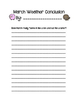 Does March really come in like a lion and out like a lamb?  CCSS PBL Weather Lab