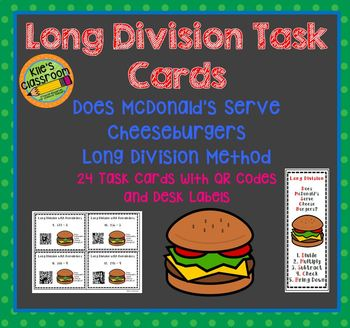 Does McDonald's Serve Cheeseburgers? Long Division Task Cards
