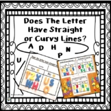 Sorting Mats-Does The Letter Have Straight or Curvy Lines?
