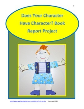 Does Your Character Have Character? A Book Report