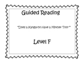 Does a Kangaroo Have a Mother Too - Guided Reading Lesson Plan