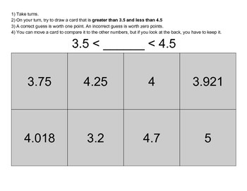 Does it Fit? Comparing Decimals