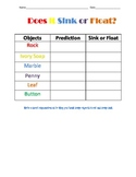 Does it Sink or Float Worksheet-Freebie!