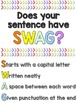 Does your sentence have SWAG? Writing Poster