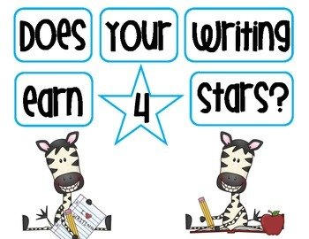 Does your writing earn 4 stars? Bulletin Board Display