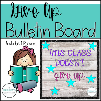 Doesn't Give up Growth Mindset Bulletin Board