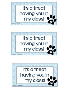 Dog Back to School Student Gift Tags & Craftivity FREEBIE
