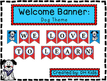 Dog Banner - We Love to Learn