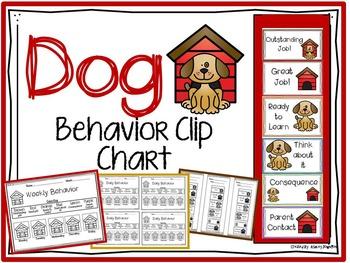Dog Behavior Clip Chart