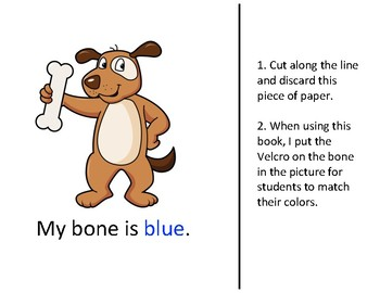 Dog Bone Color Match Book
