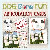 Dog Bone Fun Articulation Cards: M, N, P, B, W, H
