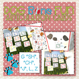 "Dog Bone Fun Articulation Cards G, ""SH"", ""CH"", ""J"", L, Z"