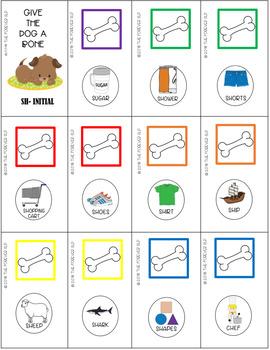 "Dog Bone Fun Articulation Cards G, ""SH"", ""CH"", ""J"", L, Z"