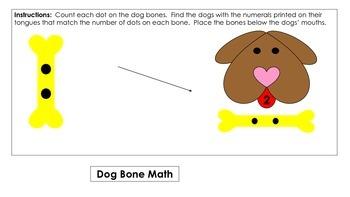 Dog Bone Math File Folder Game
