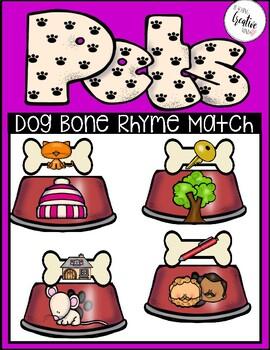 Dog Bone and Bowl Rhyme Match