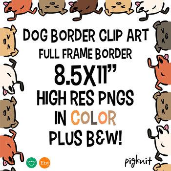 Dog Border Clipart Frame