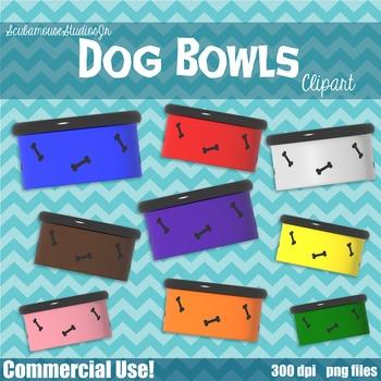 Dog Bowls Clipart