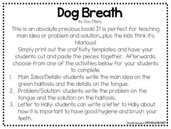 Dog Breath Book Craftivity