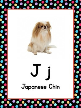 Dog Breed Alphabet Posters