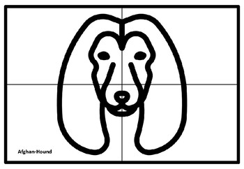 Dog Breed Faces Collaborative Art Project, Coloring Pages, Elementary Art