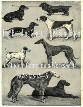Dog Breeding Genetics Simulation - Student Companion Sheet - NGSS MS-LS4-5