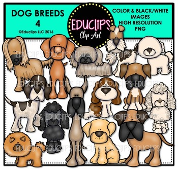 Dog Breeds 4 Clip Art Bundle