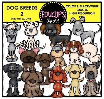 Dog Breeds Clip Art Mega Bundle {Educlips Clipart}