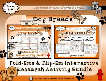 Dog Breeds From Around the World Interactive Research Activity Bundle
