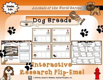 Dog Breeds From Around the World Interactive Research Flip-Ems