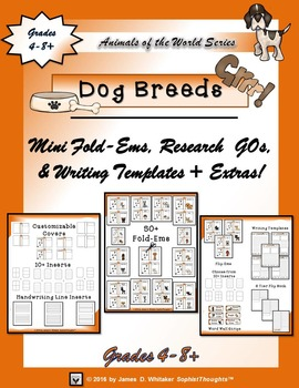 Dog Breeds From Around the World Interactive Research Fold-Ems