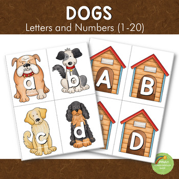 Dog Breeds Letters and Number Cards