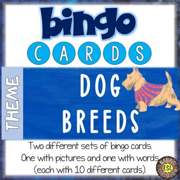 ESL games - Dog breeds bingo