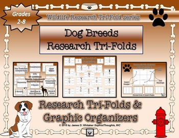 Dog Breeds Research Tri-Folds and Graphic Organizers