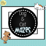 Dog & Cat Mazes - Giving Directions Activity Cards