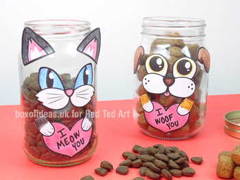 Dog & Cat Valentine's Jar Printable