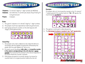 Dog Chasing 'd Cat - 4th Grade Math Game [CCSS 4.NBT.B.6]