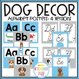 Dog Classroom Decor: Alphabet Posters