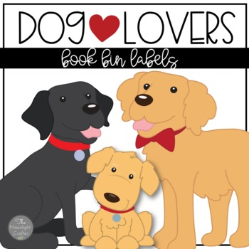 Dog Lovers Classroom Book Bin Labels
