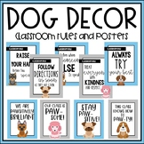 Dog Classroom Decor: Rules and Quote Posters