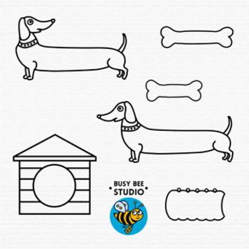 Dog Clip Art: Dachshund Dog