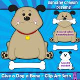 Dog Clip Art: 'Give a Dog a Bone' Clipart Set