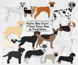 Popular Dog Breeds Clipart - 12 Hand Drawn PNG Dog Graphics - REVISED