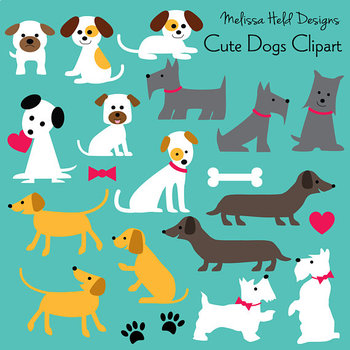 Cute Dogs Clipart