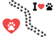 Dog Clipart, Paw Print Clipart, Vector Seamless Patterns