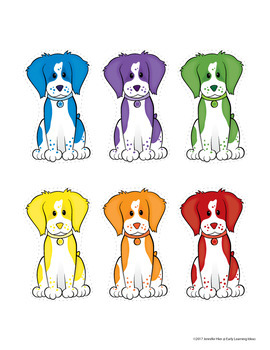 Dog Color Matching Activity for Preschool and Pre-K